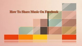 Gambar cover How To Share mp3 Songs In Facebook 2013