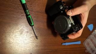 Убираем ИК фильтр из Sony NEX-F3 за три минуты =))