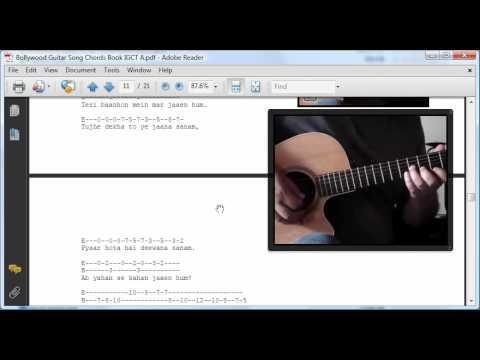 Bollywood Hindi Song Guitar Chords and Tabs Book - YouTube