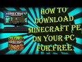 how to download Minecraft pe on your pc for free!!!!