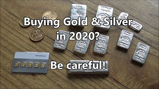 Be VERY careful when buying GOLD and SILVER in 2020 | It's going to be a very tough year!