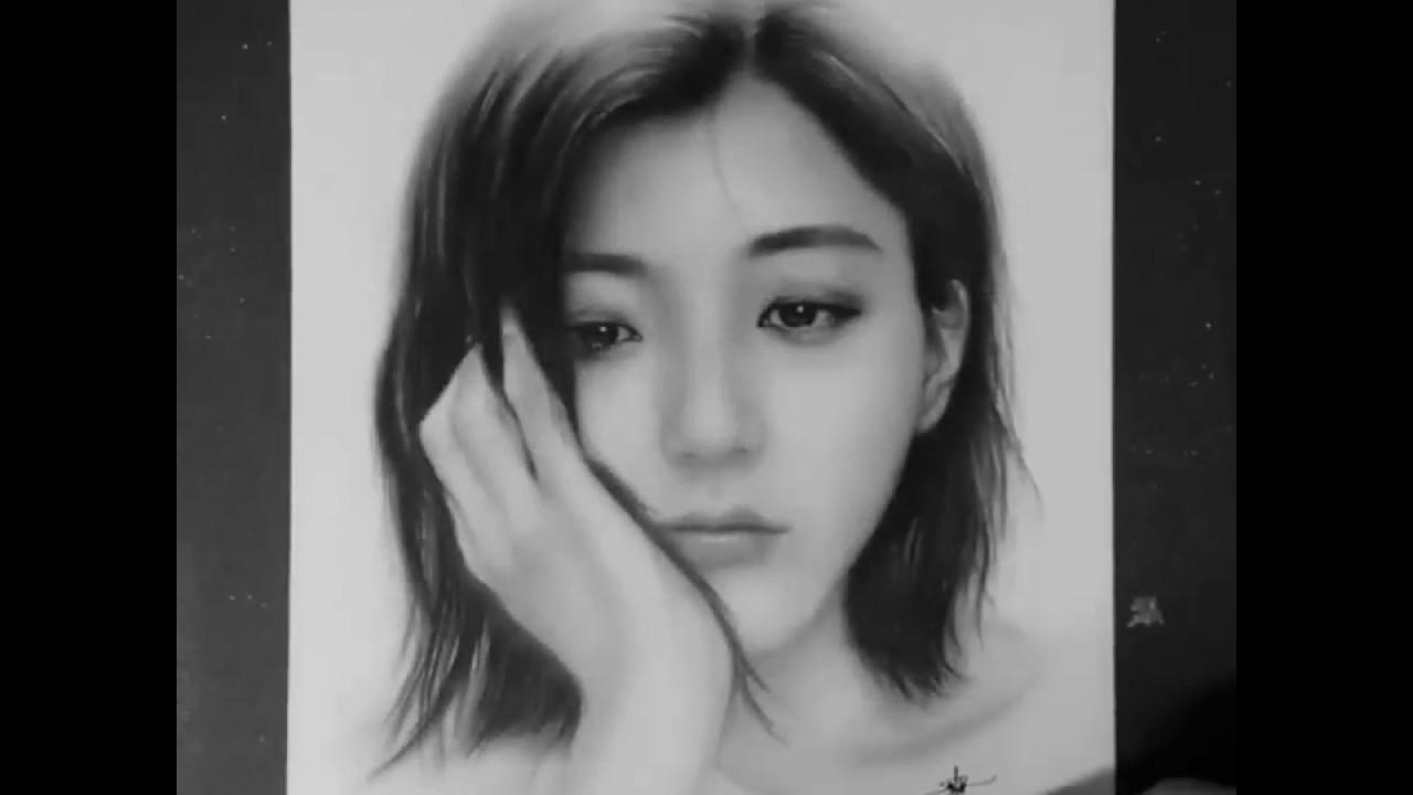 Tranh vẽ cực đẹp bằng bút chì   cách   cách vẽ #1   Min A