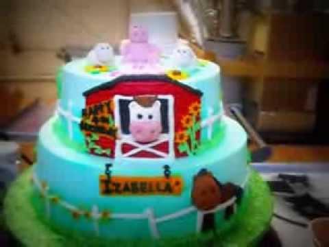 Down On The Farm Birthday Cake Youtube