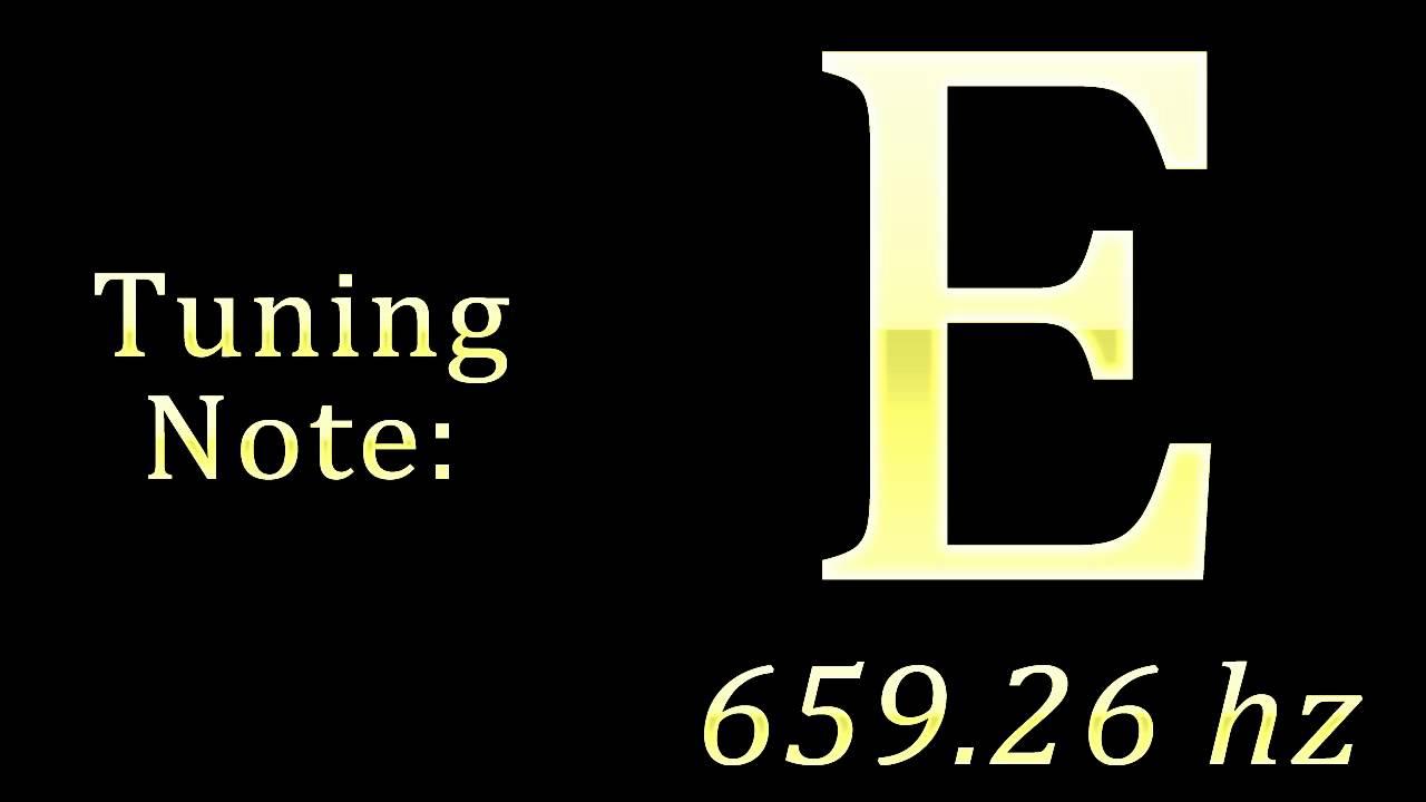 Tuning Note: E