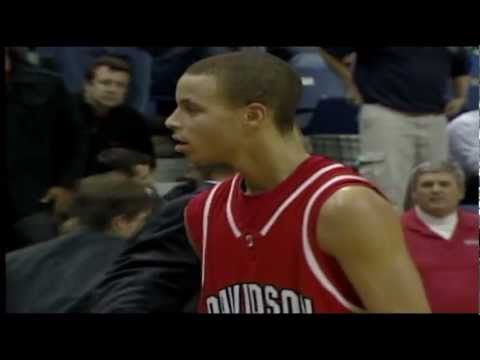 Stephen Curry hits 75-footer at Chattanooga (2009)