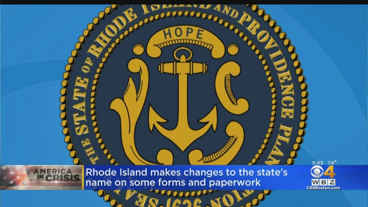 Rhode Island to remove 'Plantations' from official state name on ...