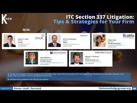 ITC Section 337 Litigation