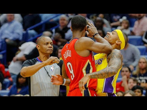 Rajon Rondo, Isaiah Thomas, Luke Walton all ejected from New Orleans Pelicans-Los Angeles Lakers gam