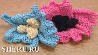 Free Knitted Flower Patterns Урок 22  Вязаный цветок