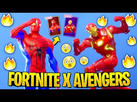 I Recreated SuperHero Skins In Fortnite And They Looked Amazing..! FORTNITE X AVENGERS