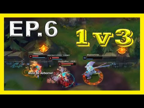 Yasuo 1v3 & Fails - 400 IQ - Best Plays & Funny Moments & League of Legends #6