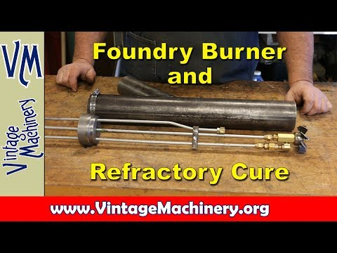 Building an Oil Fired Foundry Furnace - Part 11:  Burner Design and Refractory Cure Out