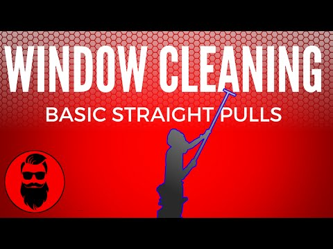 How To Clean Windows Professionally - Straight Pulls (Pole)