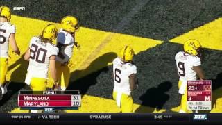 Minnesota At Maryland - Football Highlights