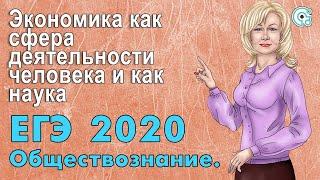 ЕГЭ по Обществознанию 2019. Экономика как сфера деятельности человека и как наука