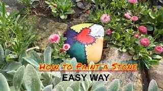 How To Paint a Stone - Easy Way