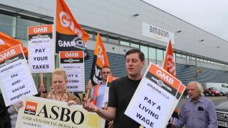 GMB demo against Amazon in Croydon