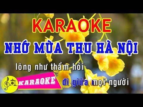 Nhớ Mùa Thu Hà Nội Karaoke || Beat Chuẩn