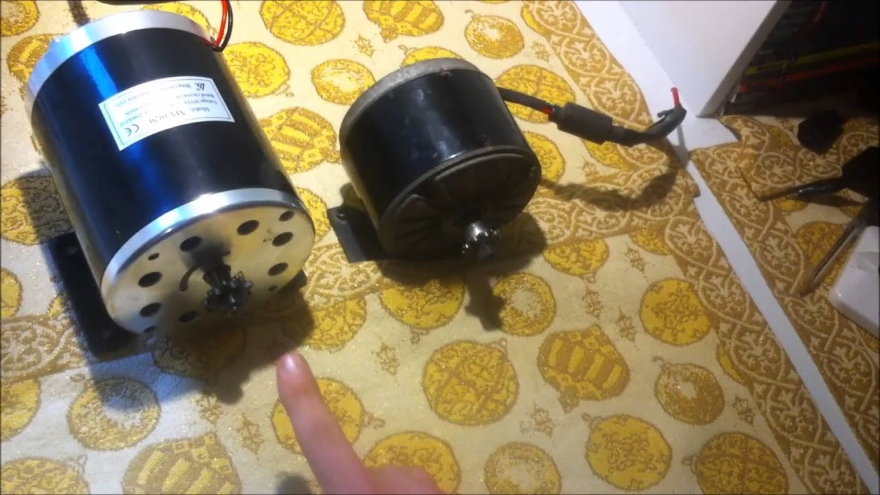 MY1020 500w 36v | Brushed Electric Motor | Demo And Review - YouTube