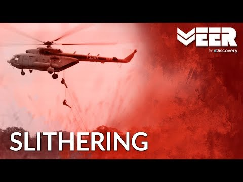 Slithering - Soldiers Rappelling Down From Helicopter  | मिलिट्री की Dictionary | Veer by Discovery