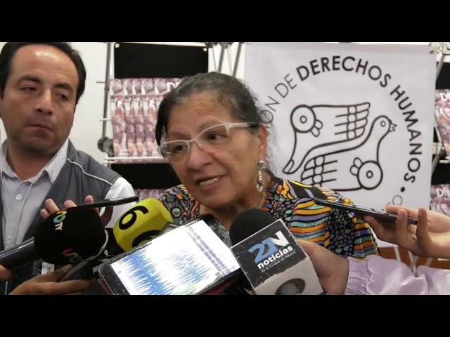 Entrevista a Presidenta de CDHCM, Nashieli Ramírez, al finalizar evento a 5 años Ayotzinapa