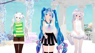 MMD Lavender Cherry Miku TDA Cosmic Miku And Fem Asriel Lips Are Movin