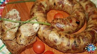 Колбаса из Куриных Потрошков с Рисом и Сыром