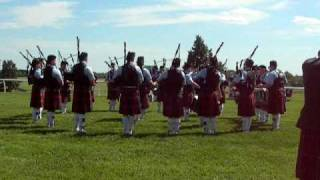 78th Fraser Highlanders Pipe Band at Colonial Highland Games 2010 - Medley