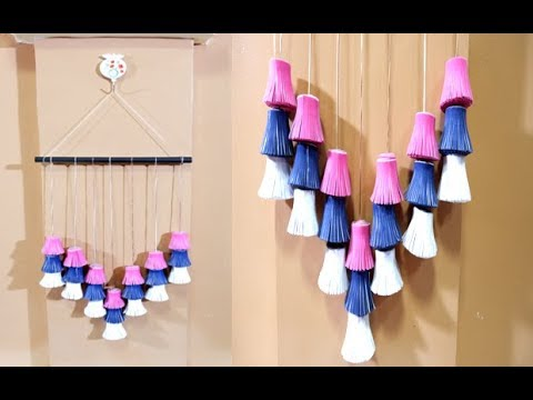 DIY Felt Paper Tassel Wall Hanging Decor Tutorial