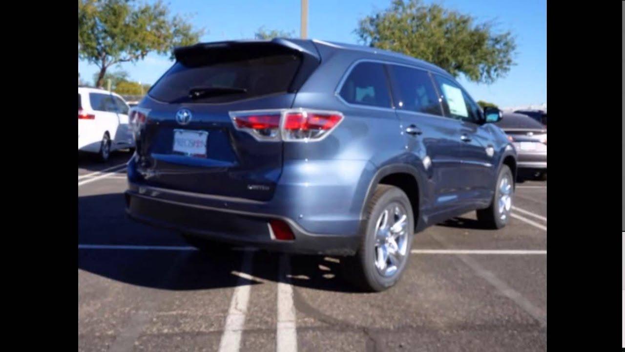 2015 Toyota Highlander Xle >> 2016 Toyota Highlander Limited Shoreline Blue Pearl - YouTube