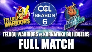 CCL 6 LIVE - Telugu Warriors vs Karnataka Bulldozers || Final Match - Full Match
