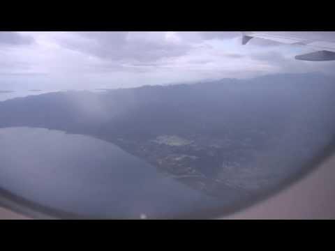 Silk Air A319, landing - Lombok, Indonesia