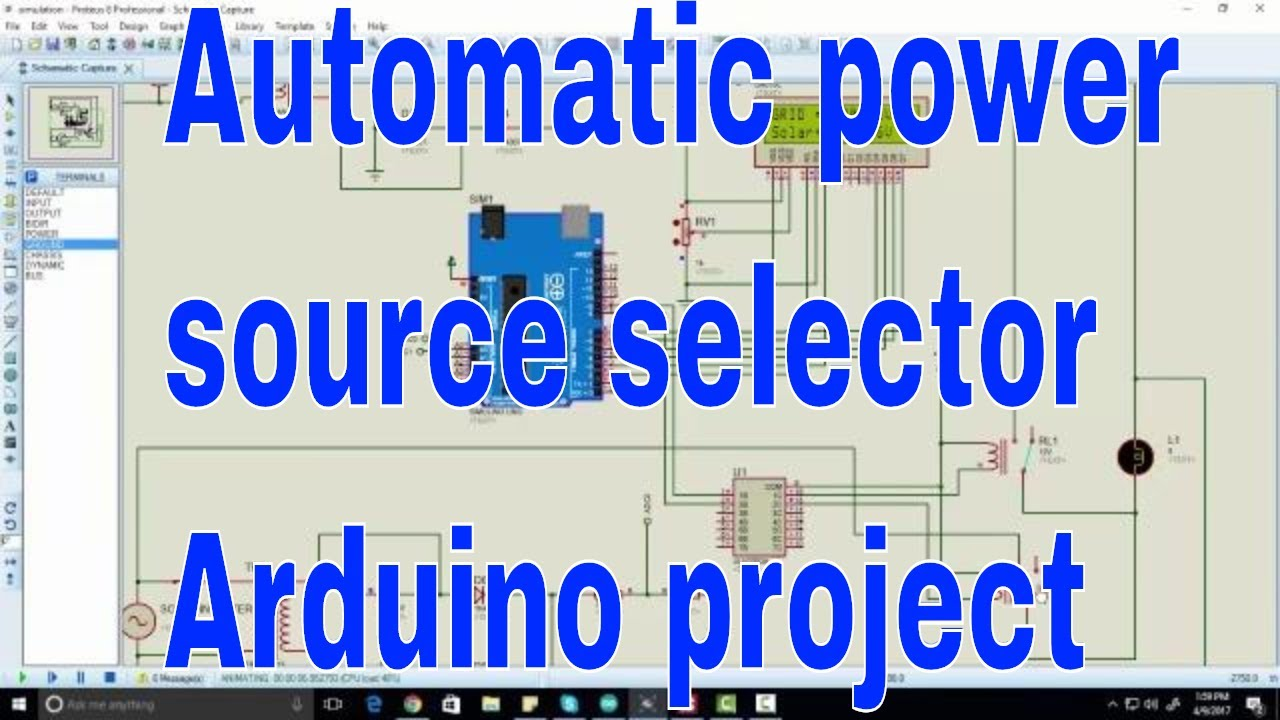 Automatic Power Source Selection Between Two Sources Circuit Using Electronic Selector For 8 Arduino Uno