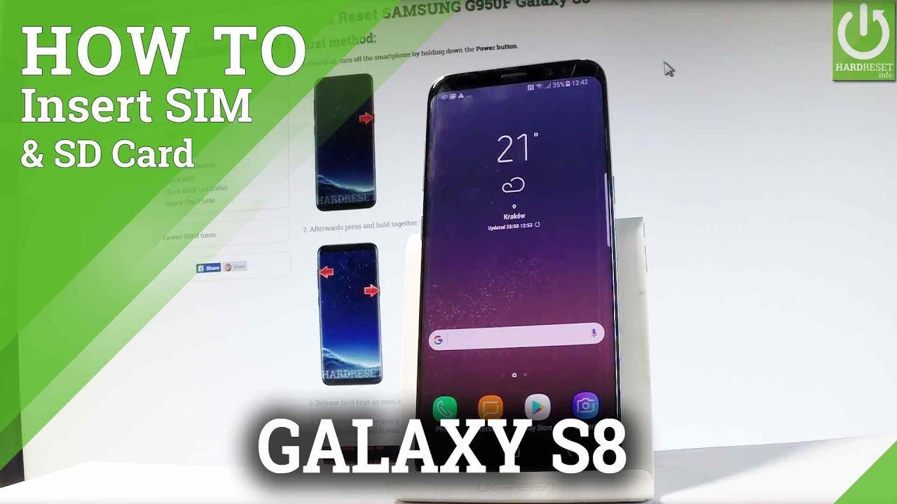 Galaxy S8 Sim Karte.Samsung Galaxy S8 Insert Sim And Sd Card Set Up Sim Sd