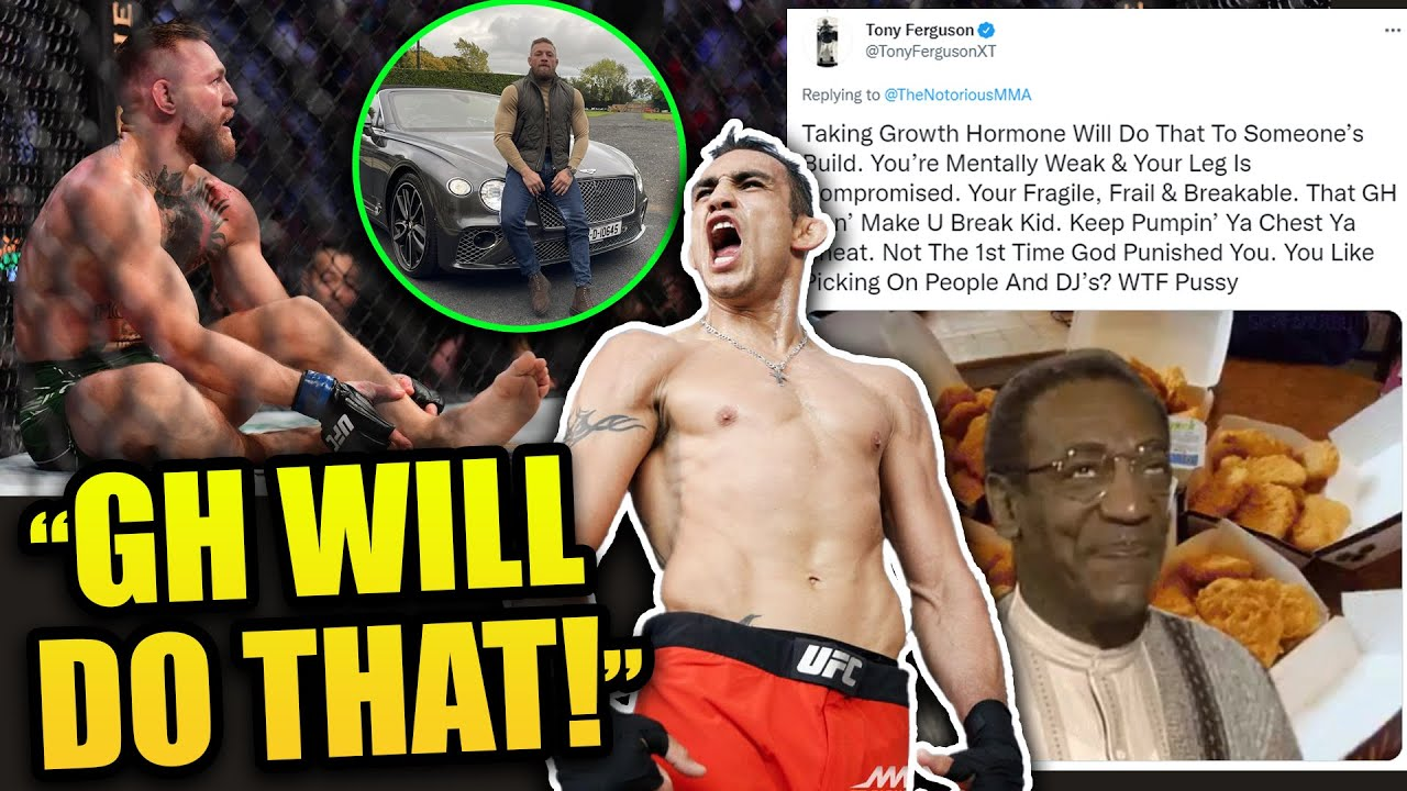 """""""Taking Growth Hormone Will Do That"""" - Tony Ferguson On Conor McGregor's Size Gains And Broken Leg"""