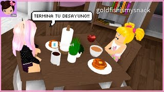 Roblox Morning Routine with My Baby Goldie! Breakfast! School and Work