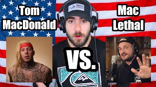 Tom MacDonald VS. Mac Lethal (Full Diss Track Battle REACTION)