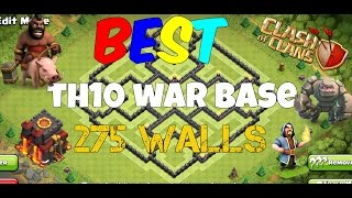 Clash Of Clans Th10 War Base 275 Walls 2016 Anti 2 Star New Update War Base Anti Gowipe,Anti Hog