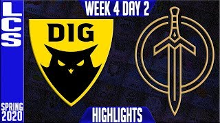 DIG vs GG Highlights | LCS Spring 2020 W4D2 | Dignitas vs Golden Guardians