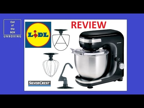 SilverCrest Stand Mixer ROBOT MULTIFONCTION SKM 600 A1 REVIEW (Lidl  6000W 5L)