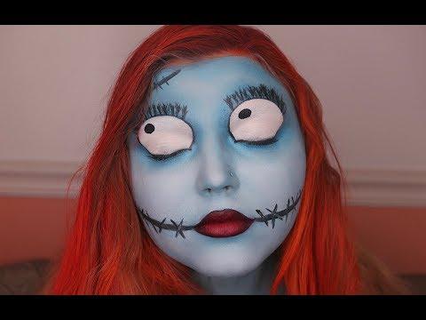 sally the nightmare before christmas makeup tutorial 31 days of halloween