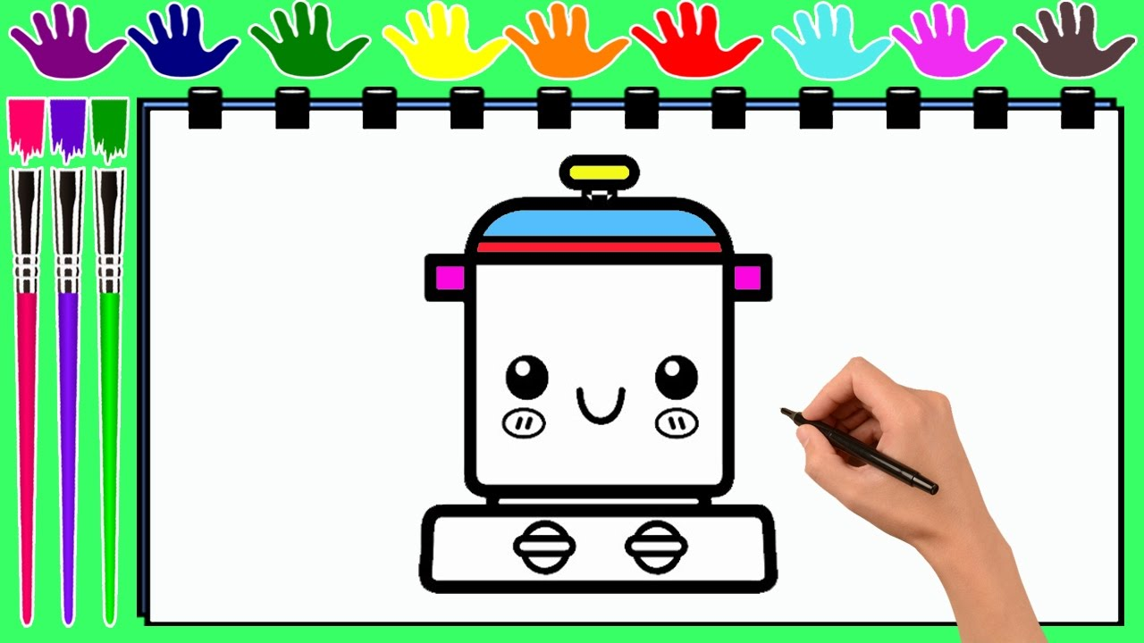 coloring pages a pressure cooker drawing pages to color for kids