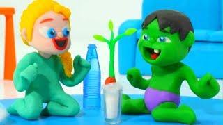 SUPERHERO BABIES & THE SEED GERMINATION PROCESS ❤ Frozen Elsa Play Doh Cartoons For Kids