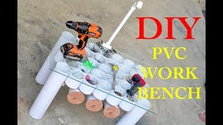 How To Make a Mini PVC Pipe Workbench/Table