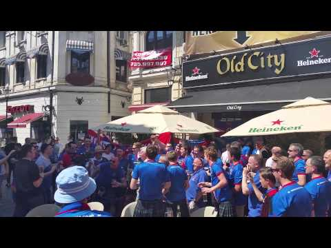 Caley Thistle fans in Bucharest