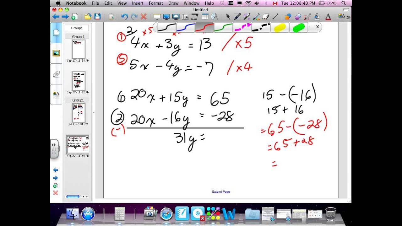 Linear Systems Review Grade 10 academic Chapter 1 Review