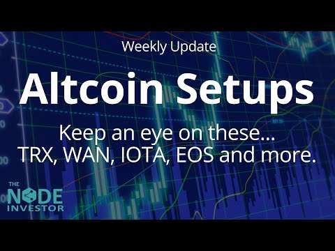 Altcoins Are Setting Up!  Technical Analysis Update for BTC ETH IOTA TRX and more.