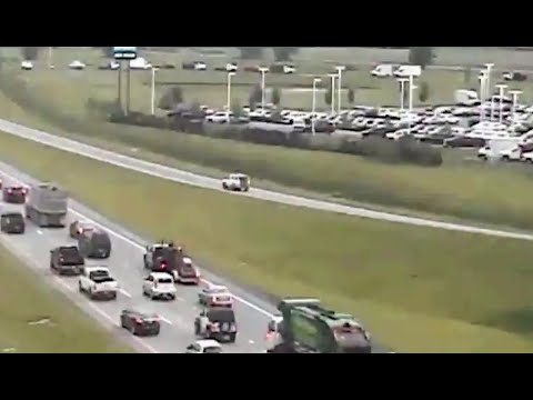 Video shows car reversing down U.S. 33 near Canal Winchester