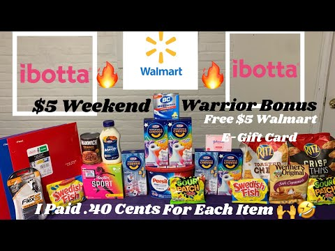 #Walmart Ibotta/Couponing Haul/ $10 Walmart E-Gift Card/Giveaway /$5 Weekend Warrior Bonus ✔ 🙌🤣🙌