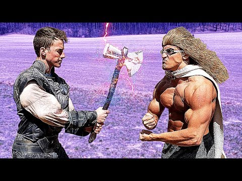Hit by Thor's STORMBREAKER AXE Until I BLEED | Bodybuilder VS Avengers: End Game Weapon Test
